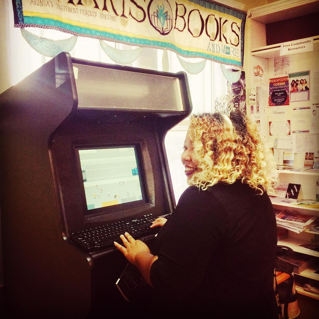 Arcade Cabinet Feature at Charis Books and More